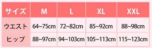 マジカルシェリーの新サイズ表